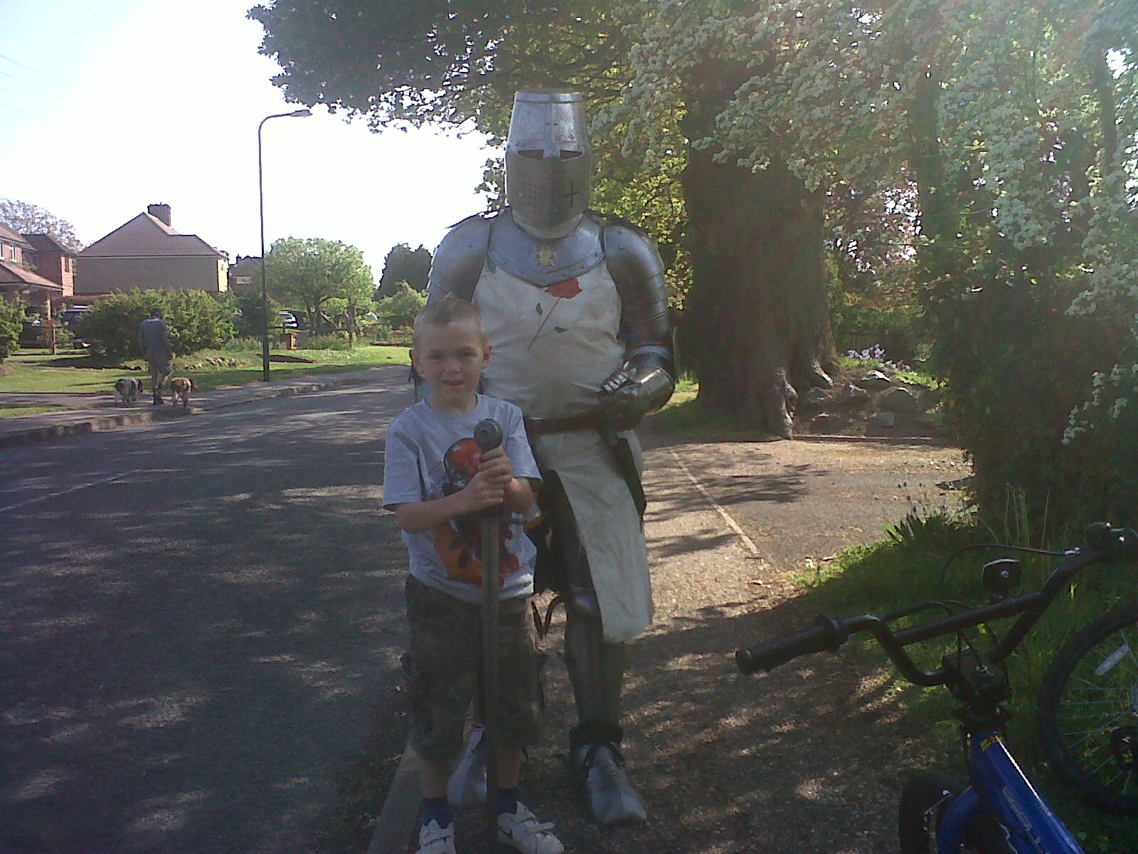 Knight & a young squire on Pondtail Road