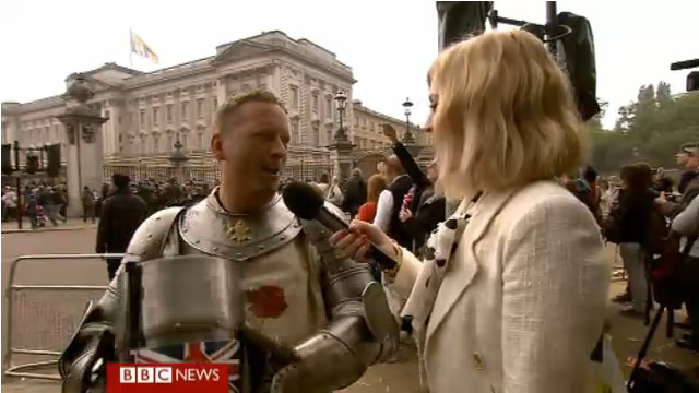 Colin live on the BBC Royal Wedding coverage