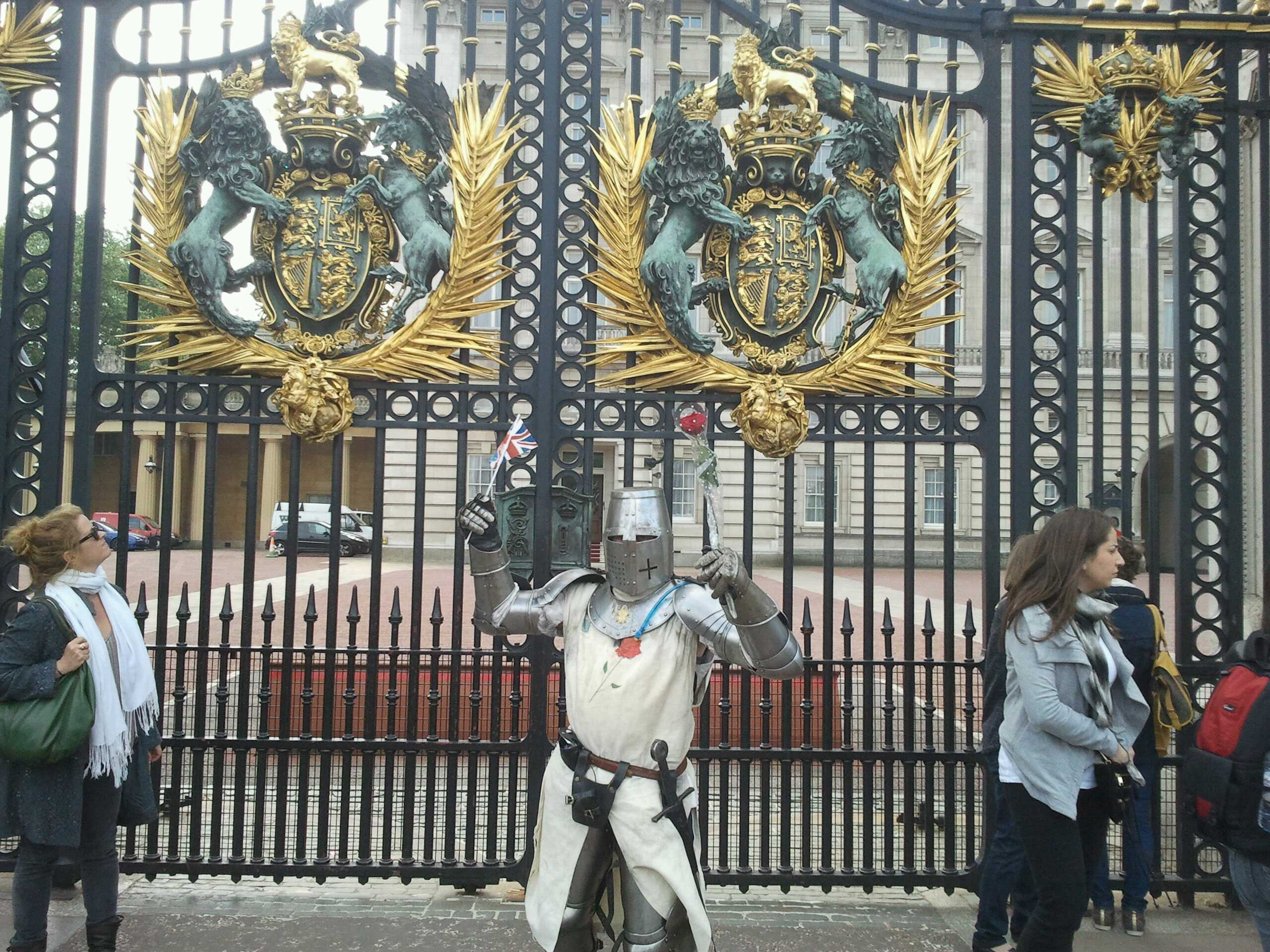 Hurrah! After 5 full days, 60 miles and countless blisters he's at Buckingham Palace