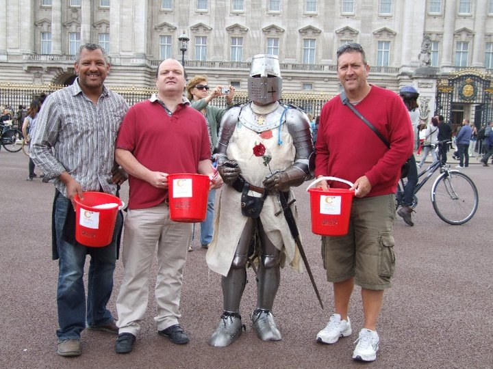Pat, Chris, Colin & Vinnie at Buckingham Palace